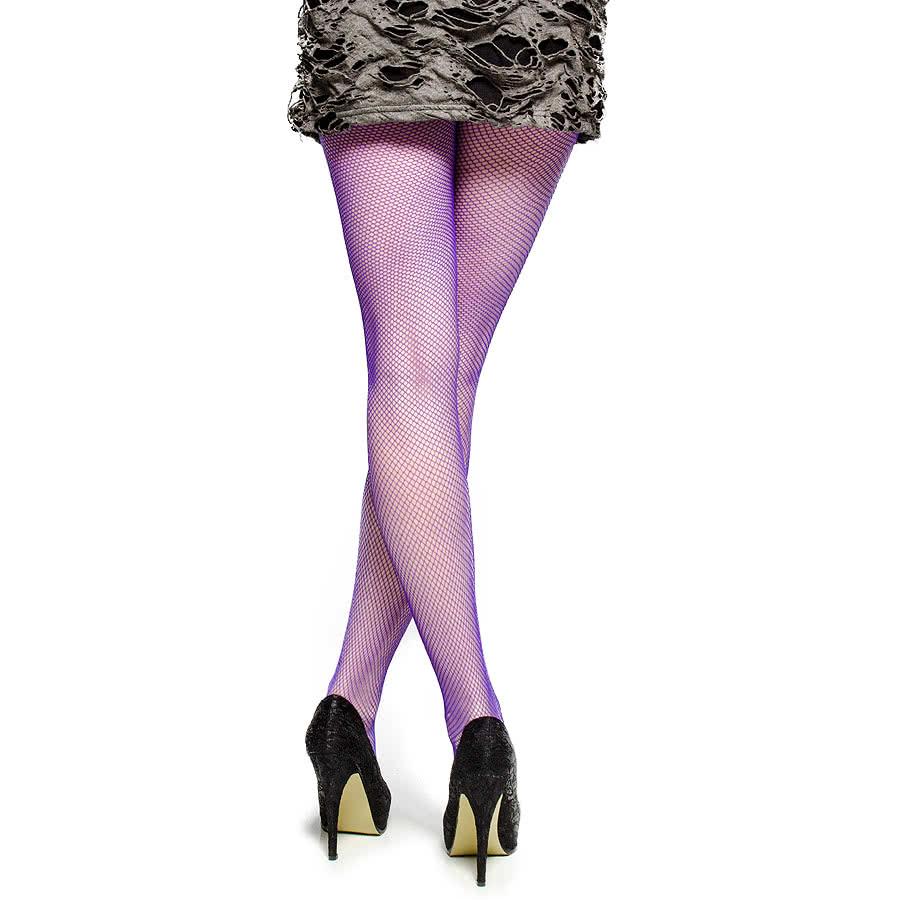 Blue Banana Small Fishnet Tights (Purple)