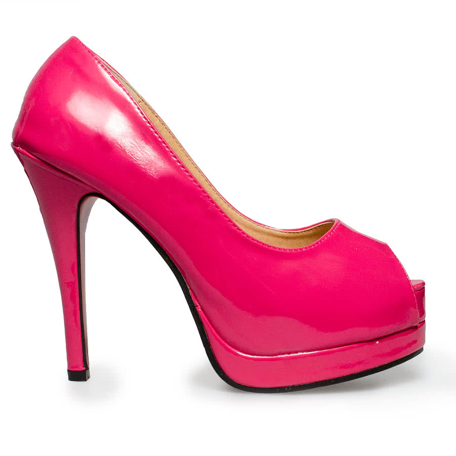 Blue Banana Patent High Heels (Pink)