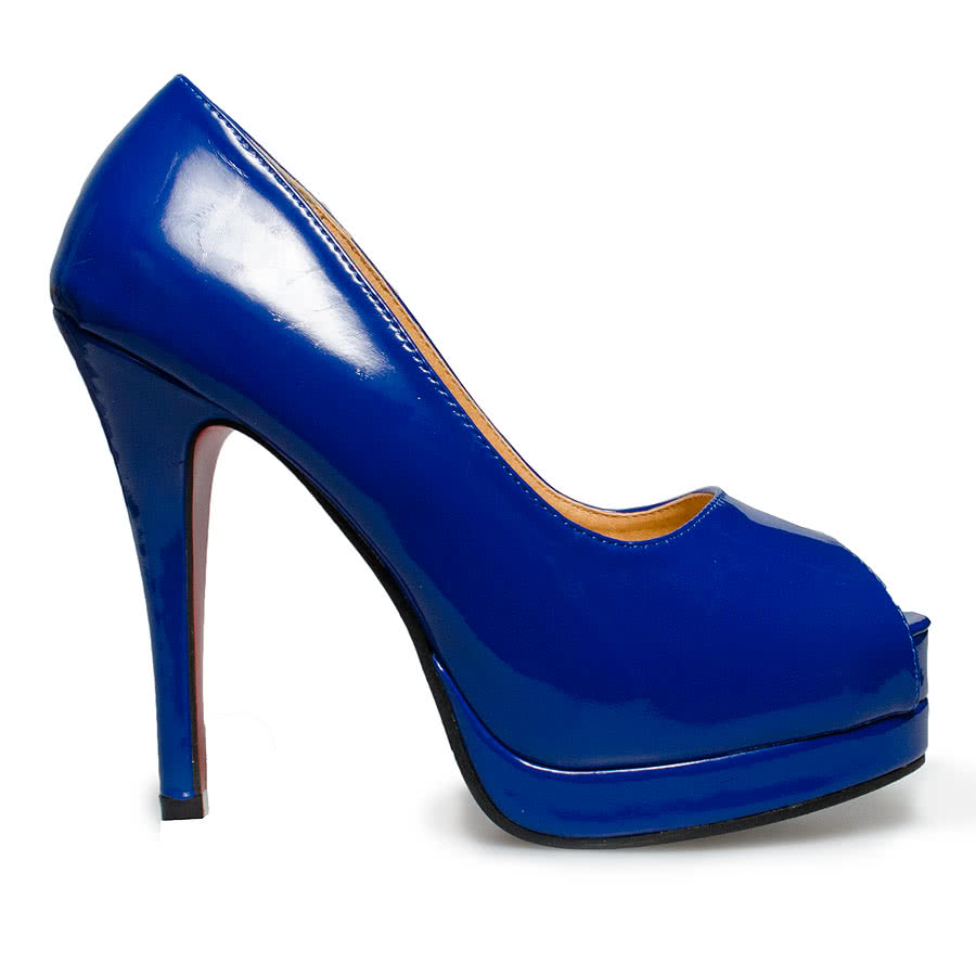 Blue Banana Patent High Heels (Blue)