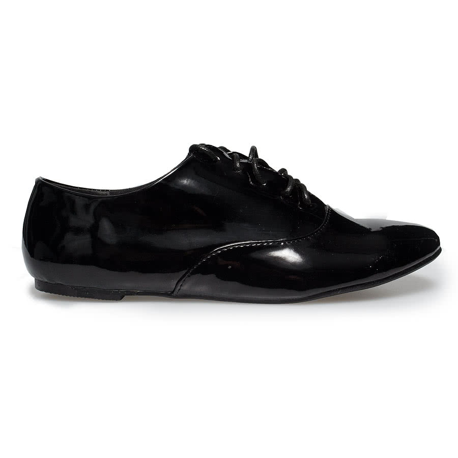 Blue Banana Patent Brogue (Black)
