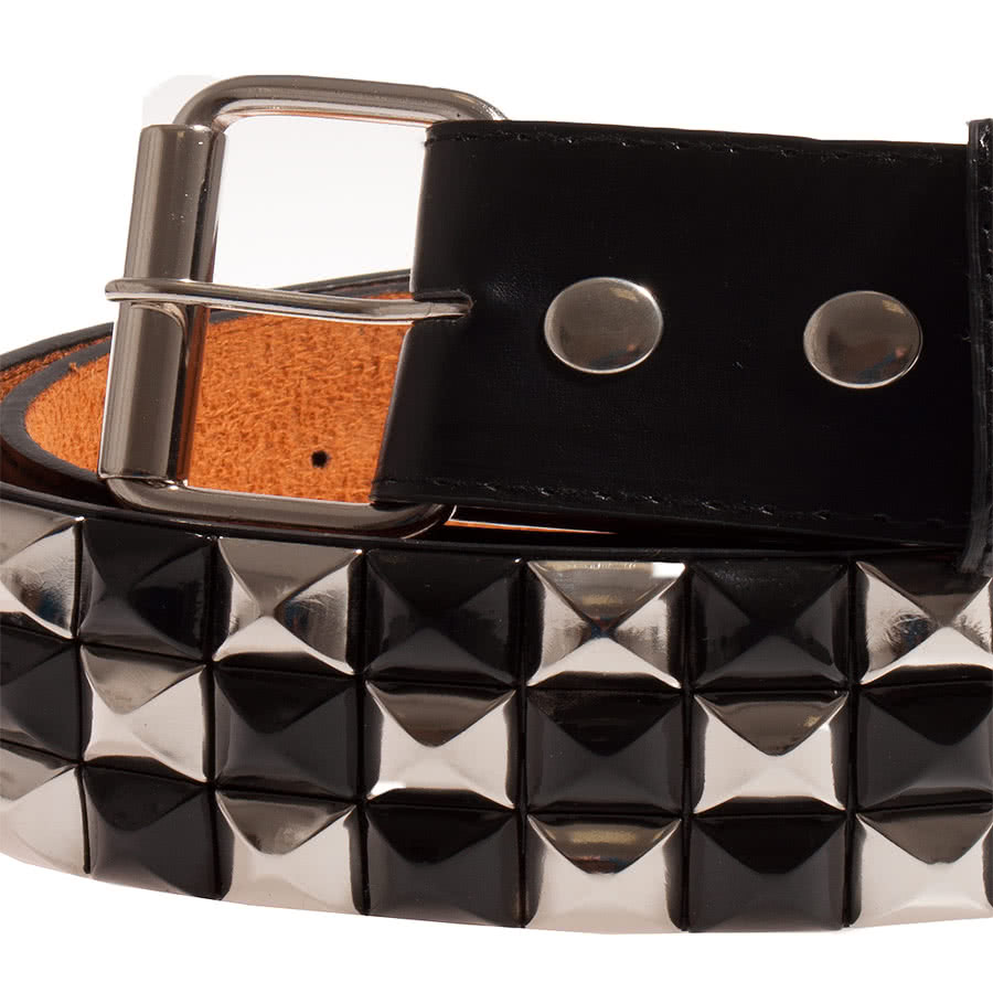 Blue Banana 3 Row Studded Belt (Black)