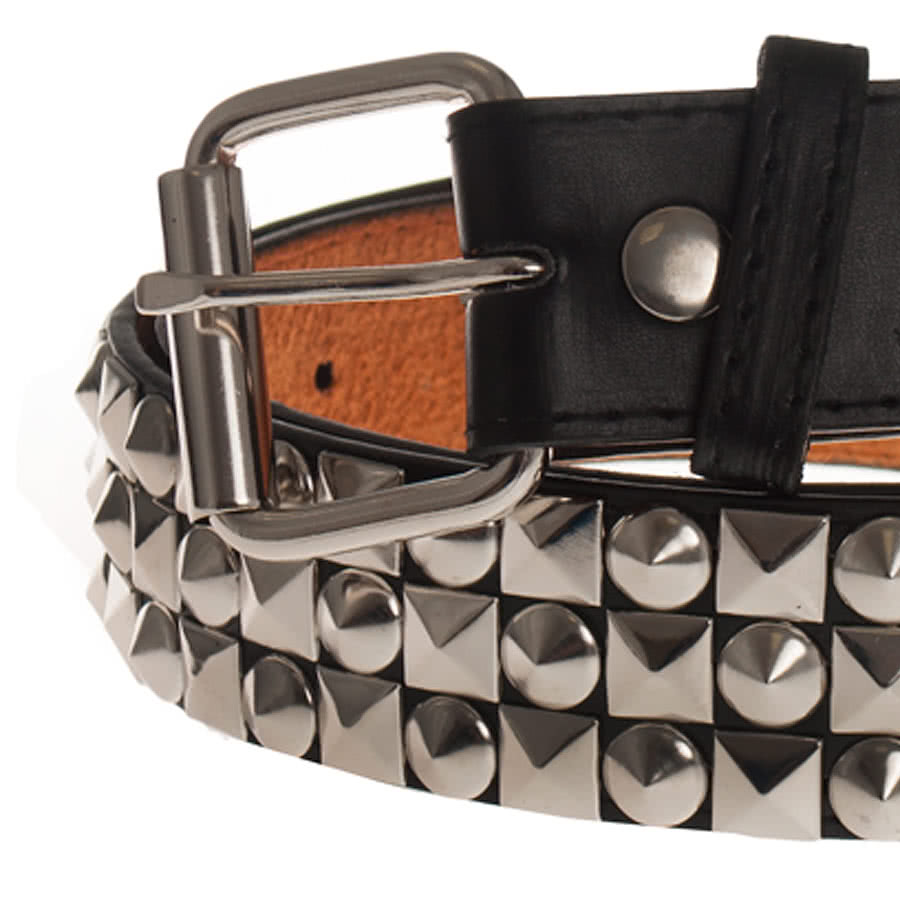 Blue Banana 3 Row Studs and Cones Belt (Black)