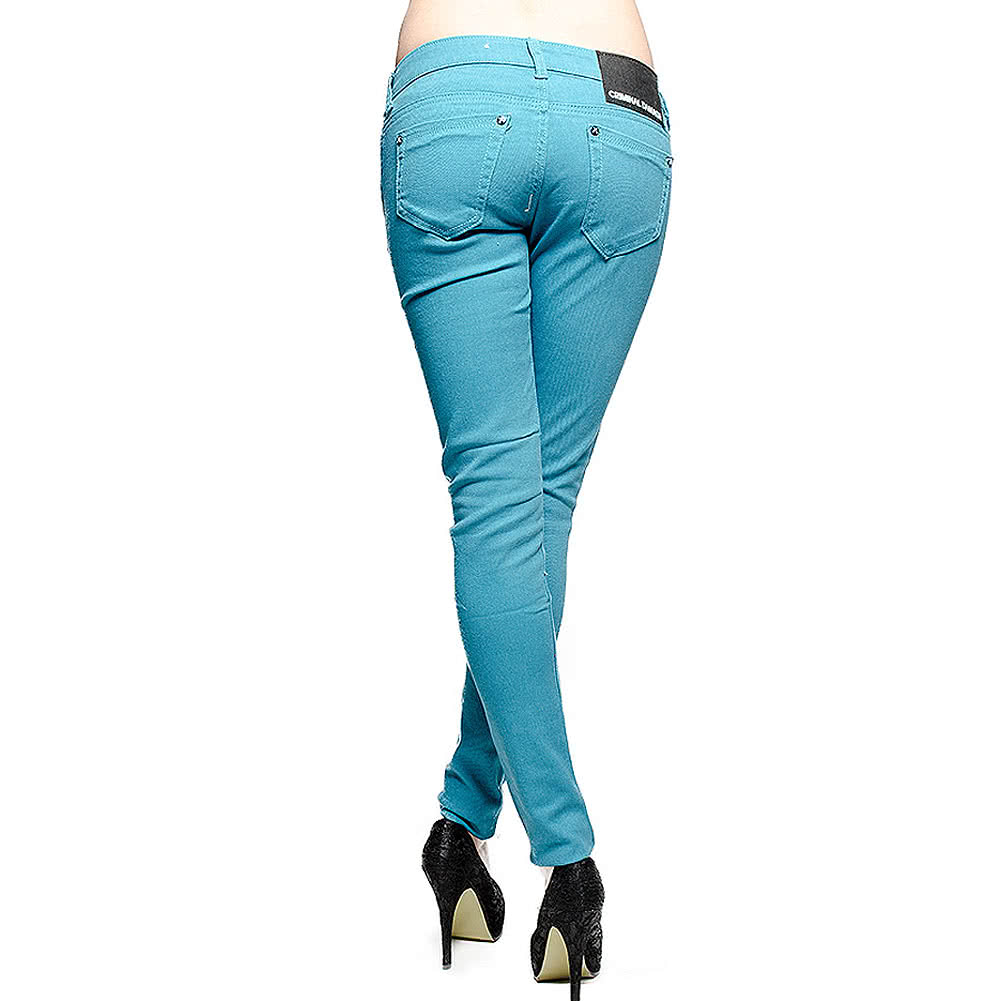 Criminal Damage Skinny Fit Jeans (Pagoda Blue)