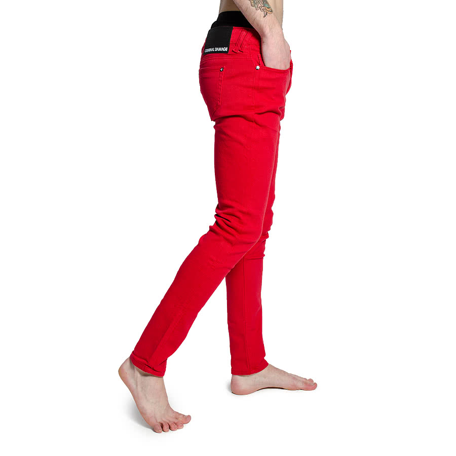 Criminal Damage Poppy Red Jeans (Red)