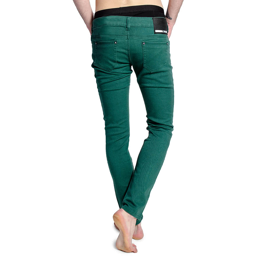 Criminal Damage Pine Green Skinny Fit Jeans (Green)