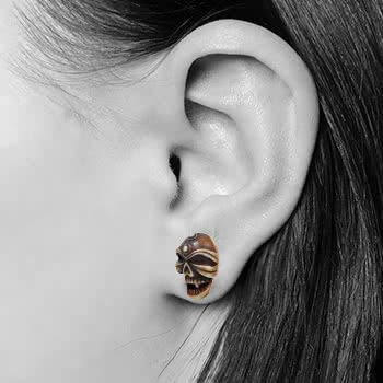 Blue Banana Skull Plug (Brown)