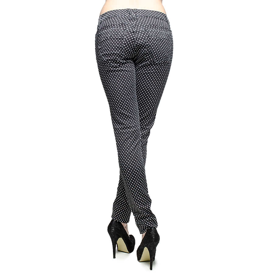 Royal Bones Polkadot Skinny Fit Jeans (Black/White)