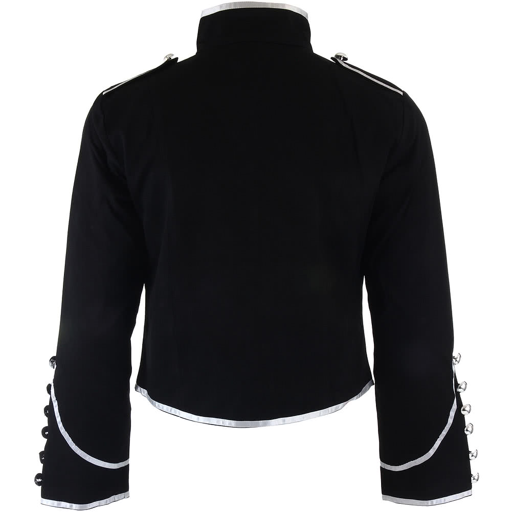 Banned Military Jacket (Black/Silver)