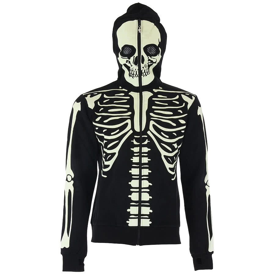 Banned Skeleton Glow In Dark Hoodie (Black)