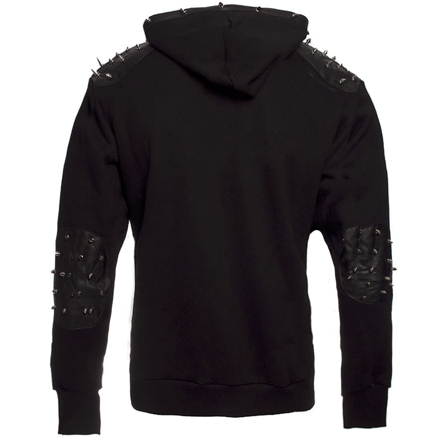 Banned Studded Spike Hoodie (Black)