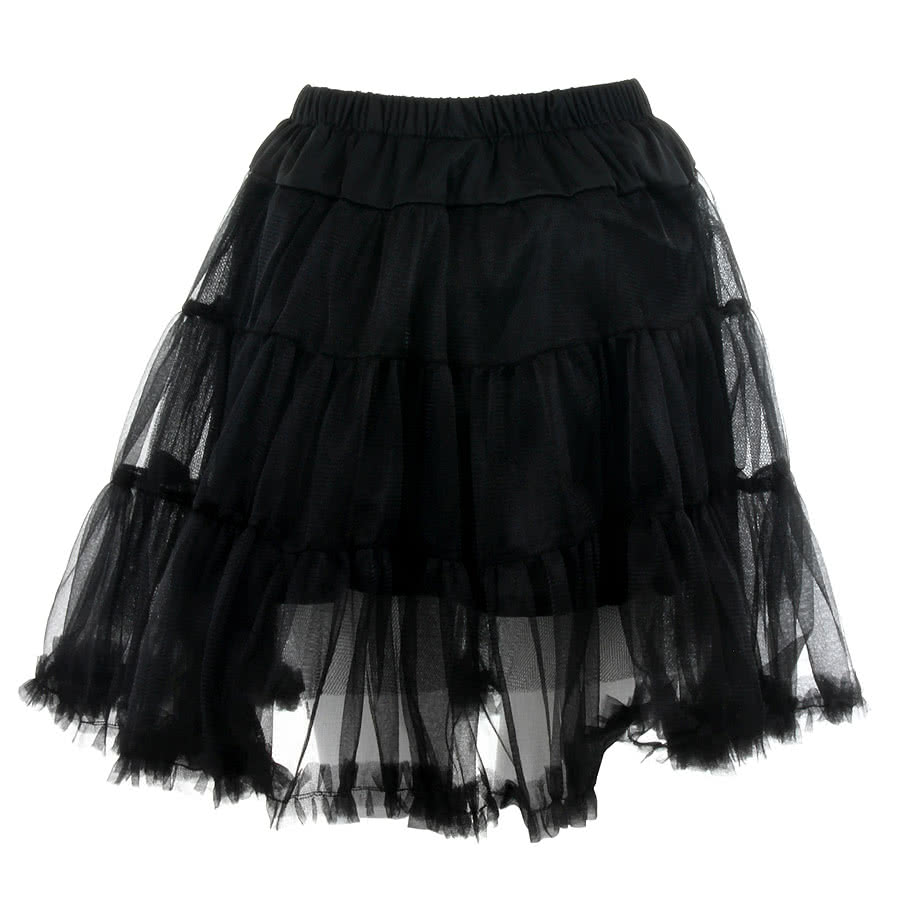 Banned Flared Short Petticoat (Black)