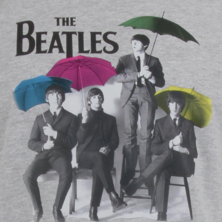 The Beatles Umbrella T Shirt (Grey)