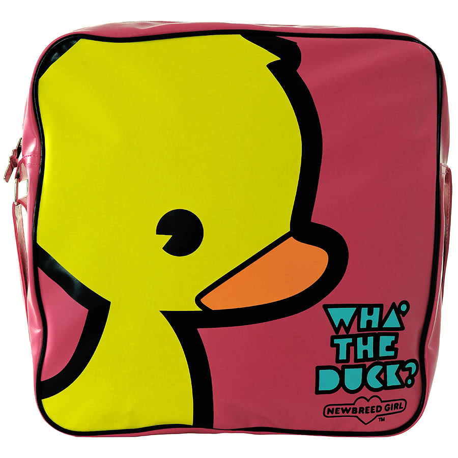 Newbreed Girl What The Duck Messenger Bag (Pink)