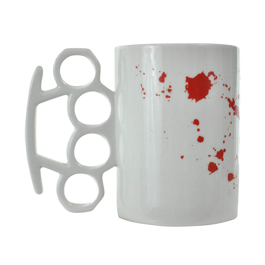 Blue Banana Blood Splatter Mug (White)