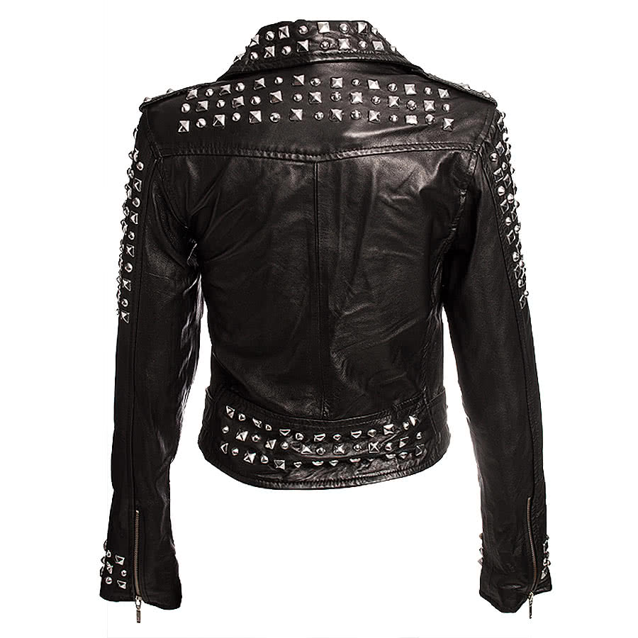 Kill Star Studded Leather Jacket (Black)
