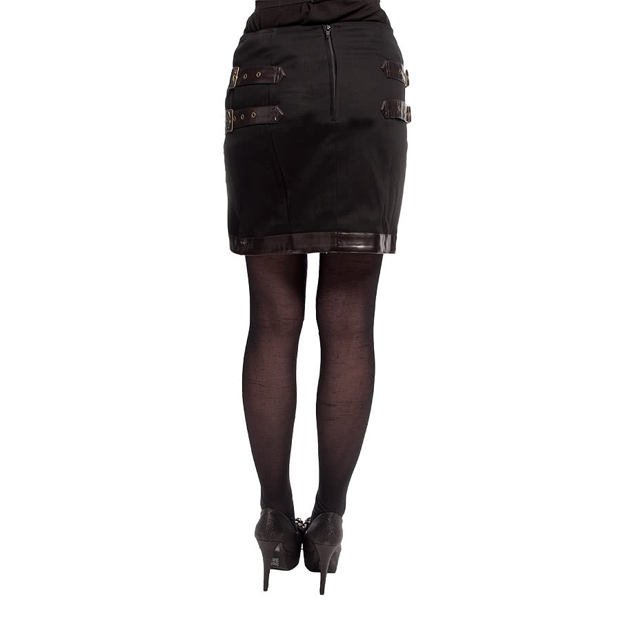Spin Doctor by Hell Bunny Tyra Skirt (Black)