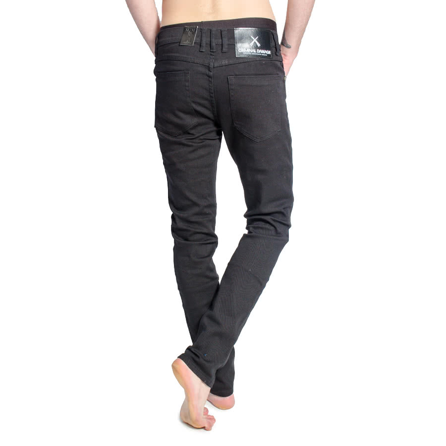 Criminal Damage SOS Regular Skinny Jeans (Black)