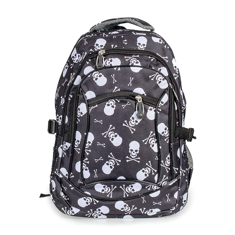 Blue Banana Skulls & Cross Bone Backpack (Black)