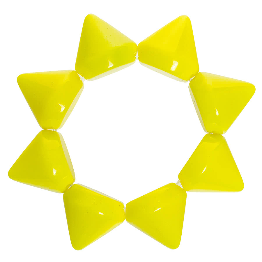 Blue Banana Plastic Large Spike Bracelet (Yellow)