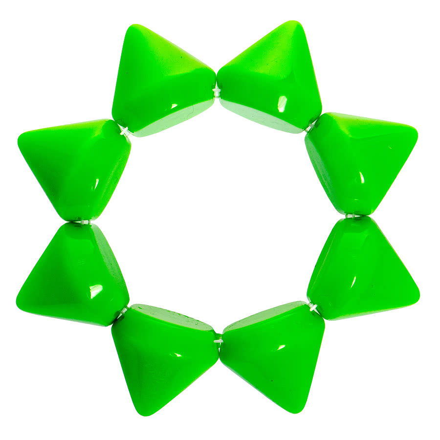 Blue Banana Large Plastic Spike Bracelet (Green)