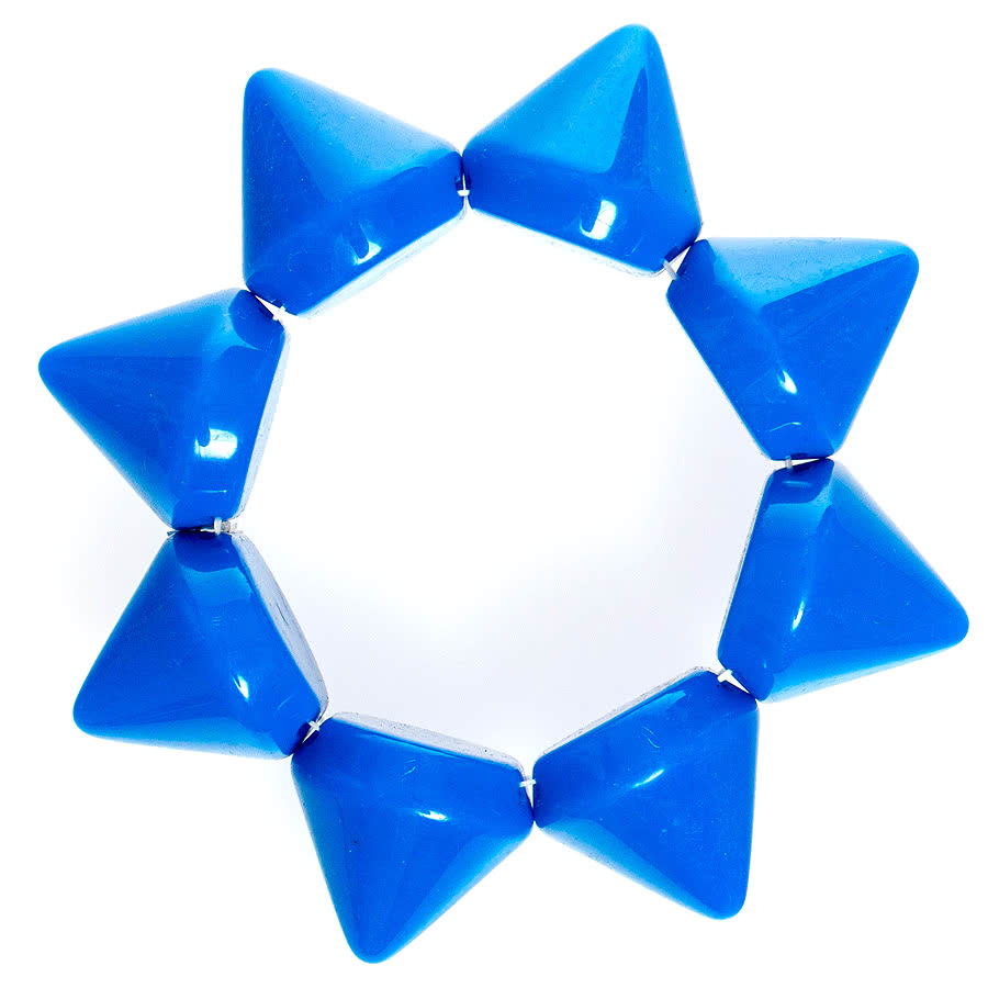 Blue Banana Plastic Large Spike Bracelet (Blue)