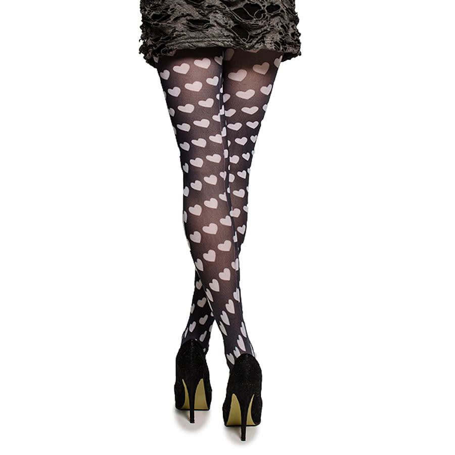 Pamela Mann Candy Hearts Tights (Black)