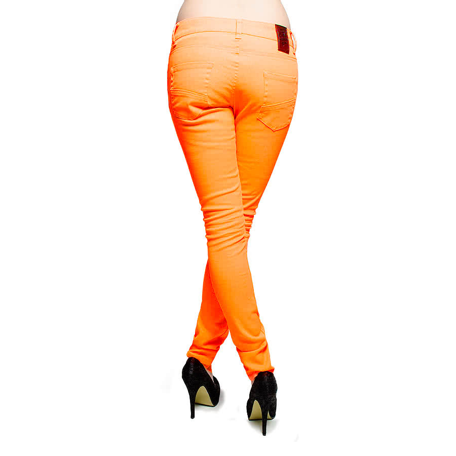 Bleeding Heart Ultra Skinny Jeans (UV Orange)