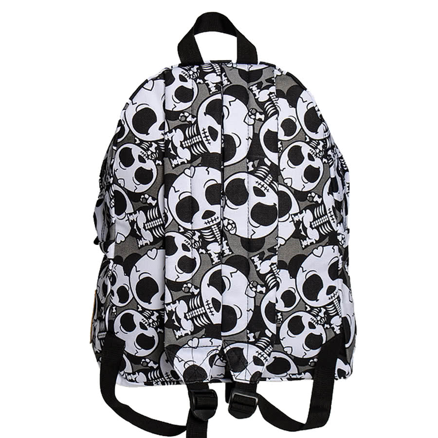 Bleeding Heart Skeleton Panda Backpack (Black)