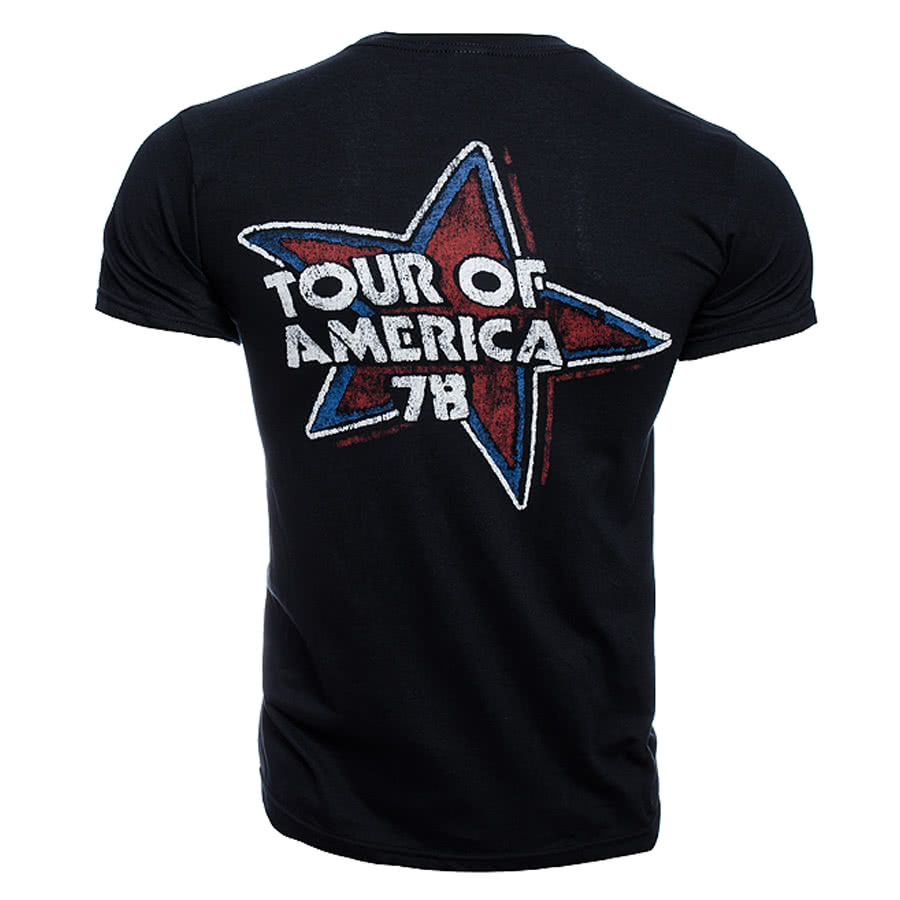 Rolling Stones Tour of the USA T Shirt (Black)