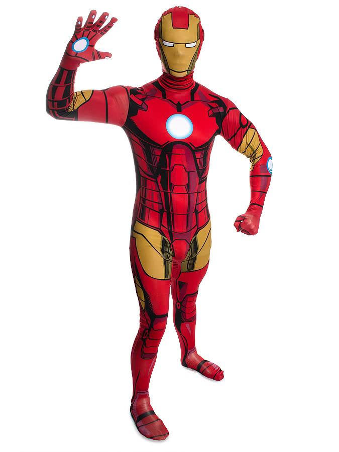 Rubies 2nd Skin Iron Man Jumpsuit (Red/Yellow/Black)