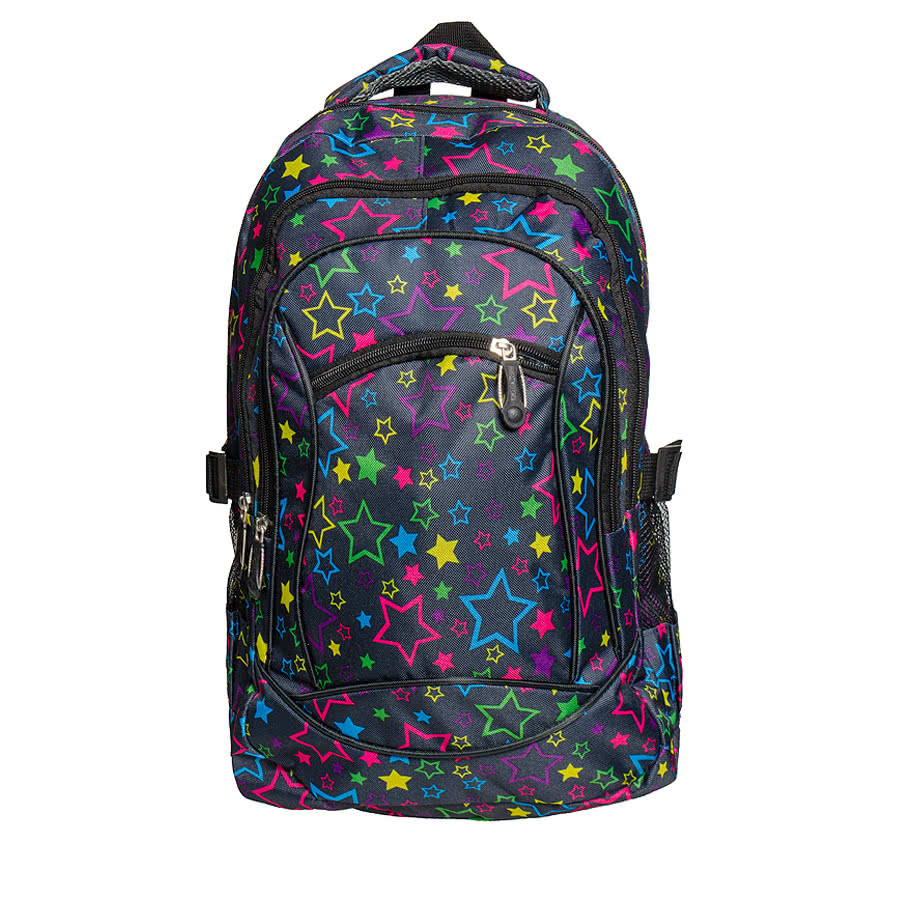 Blue Banana Multicoloured Star Backpack (Black)
