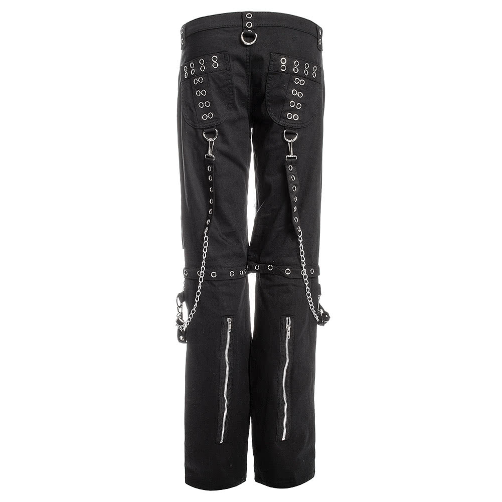 Banned Silver Chain Trousers (Black)