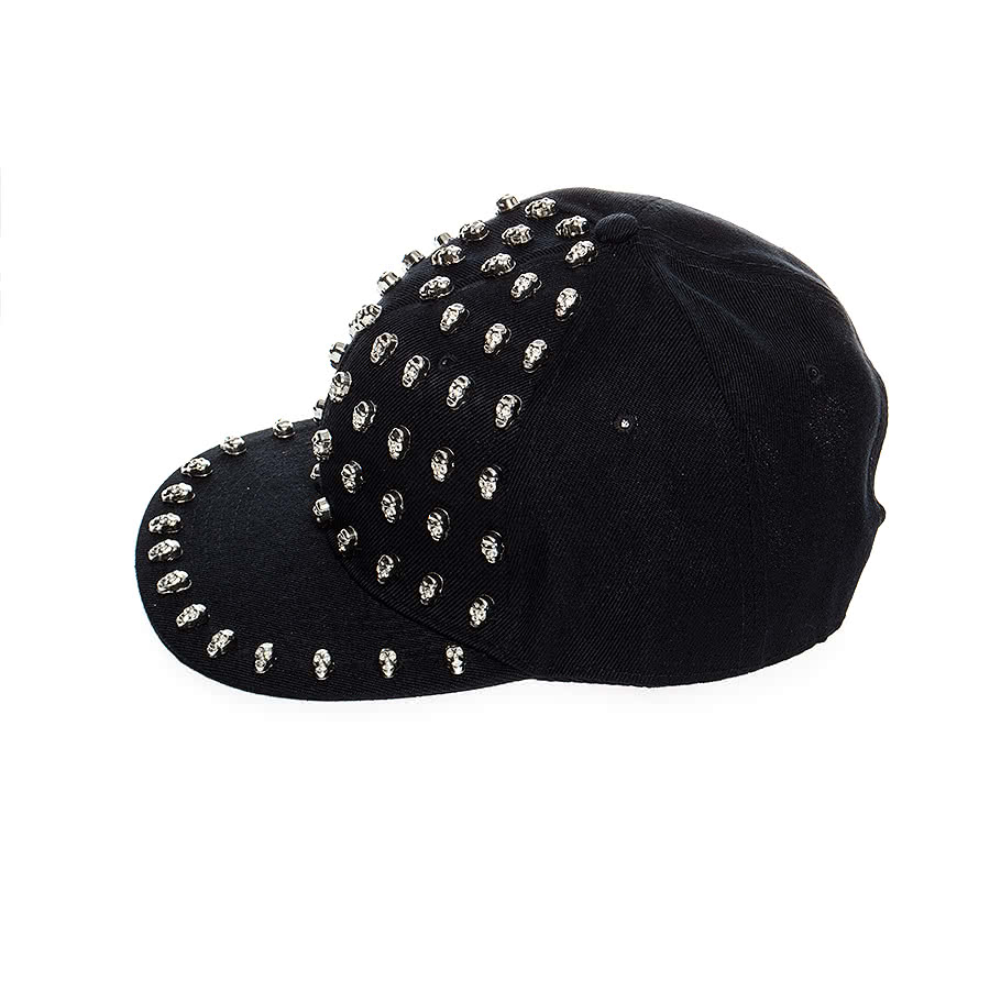 Blue Banana Silver Skull Hat (Black)