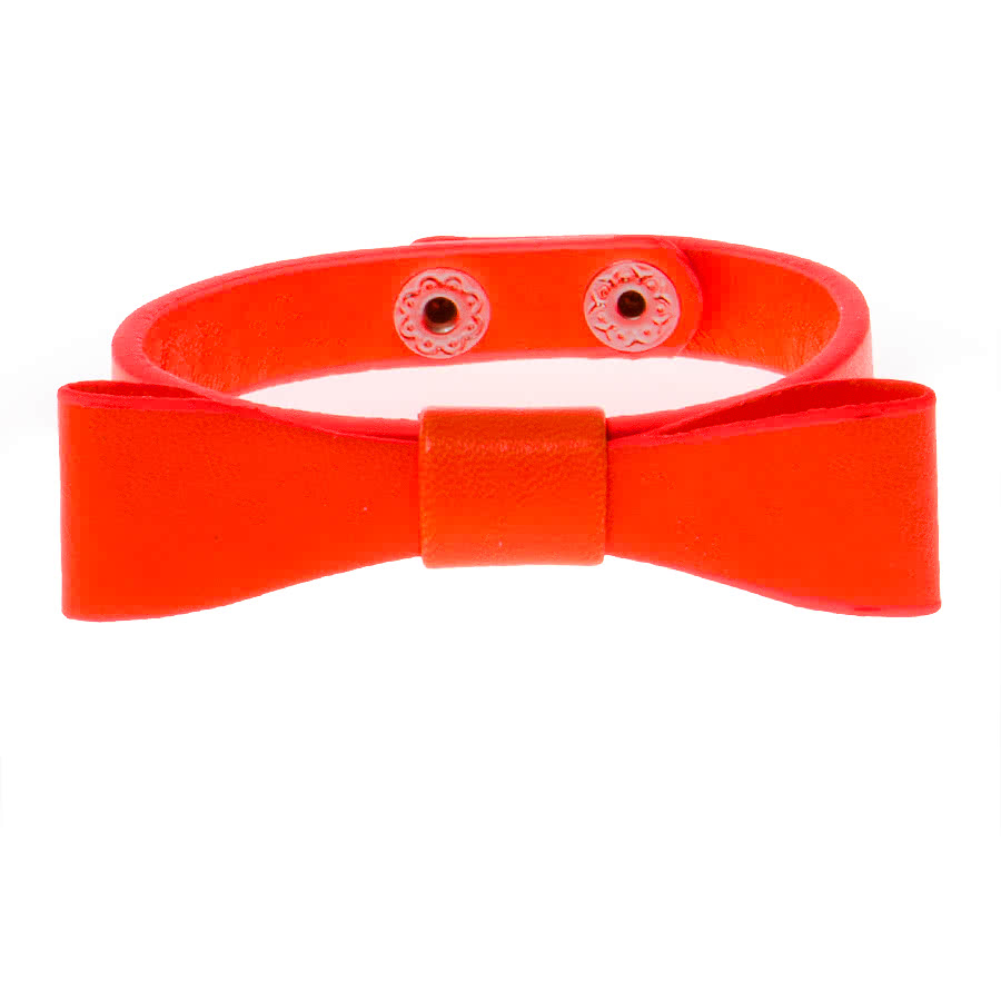 Blue Banana Bow Bracelet (Orange)