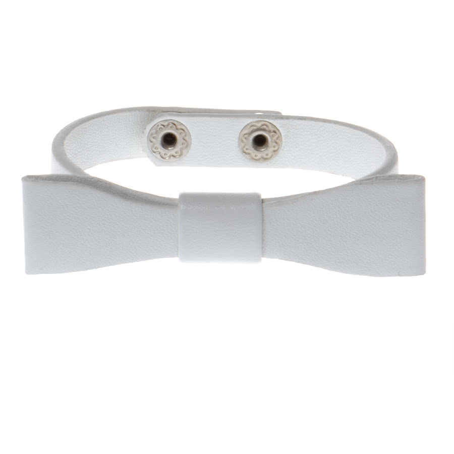 Blue Banana Bow Bracelet (White)