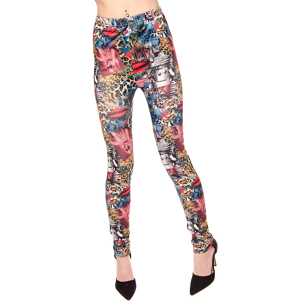 Blue Banana Rock Girls Leggings (Multi-Coloured)