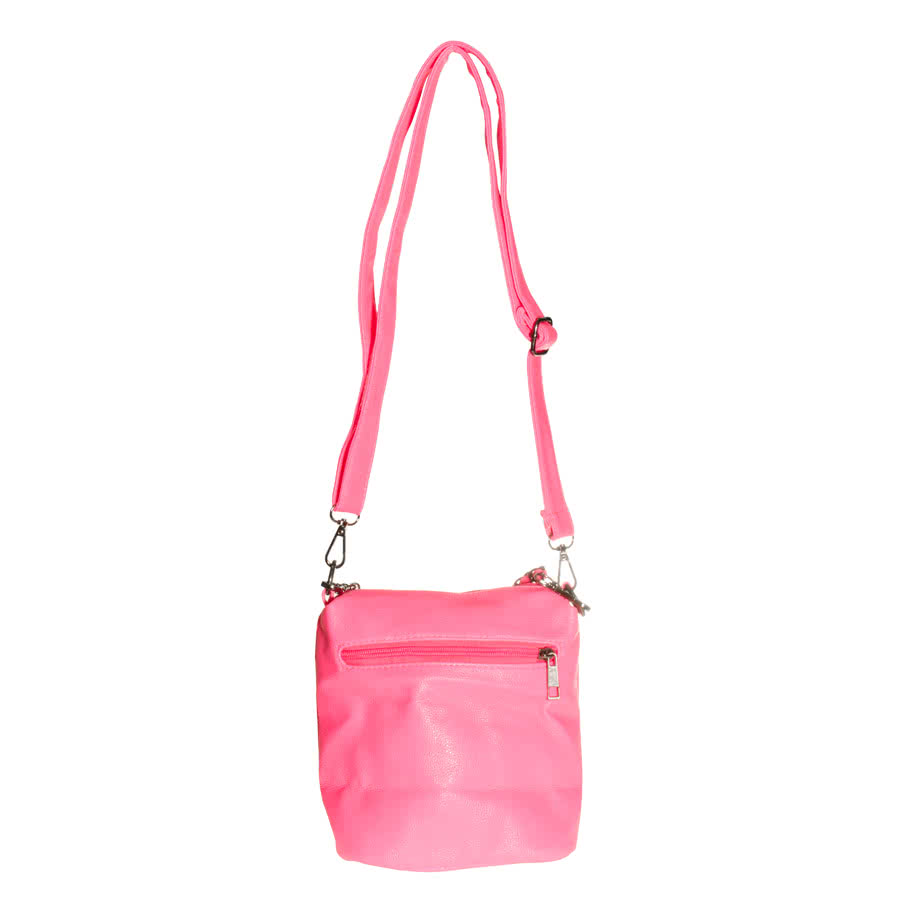 ... » Handbags » Blue Banana Skull Studded Shoulder Bag (UV Pink