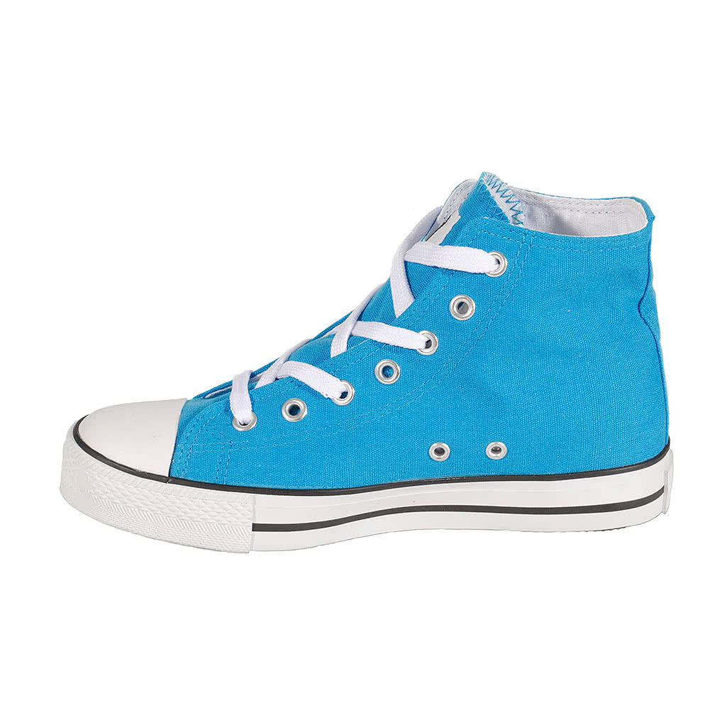 Bleeding Heart Canvas Boots (Aqua Blue)