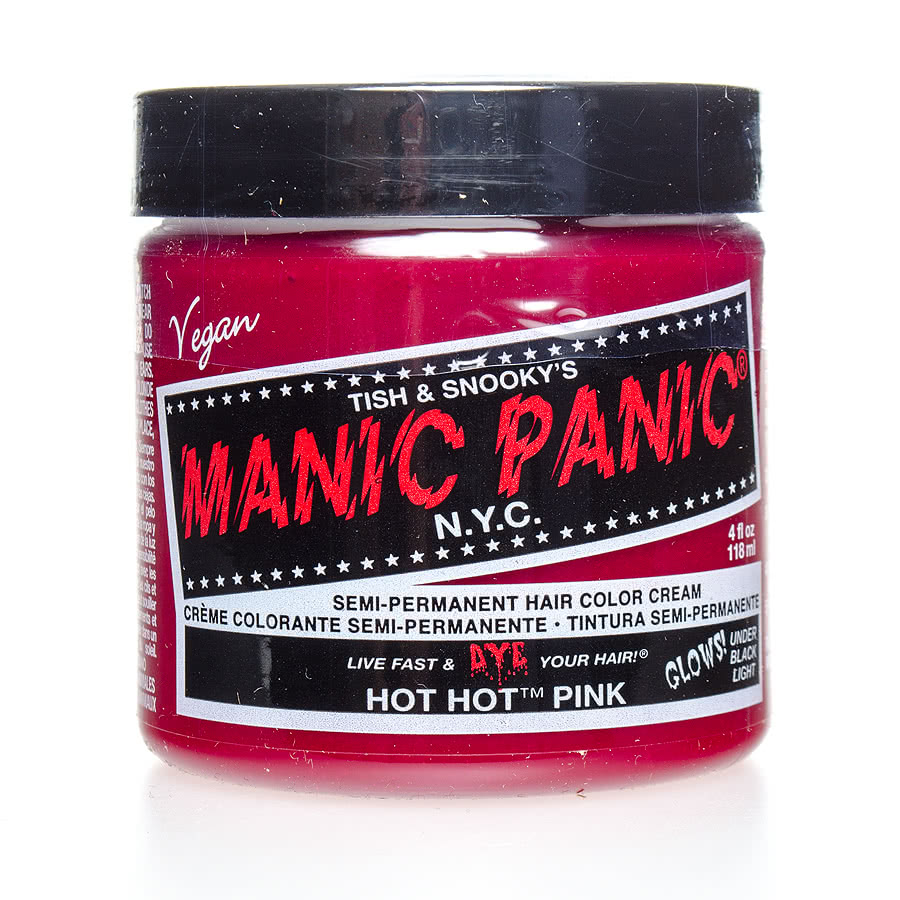 Manic Panic Classic Semi-Permanent UV Glow Hair Dye 118ml (Hot Hot Pink)