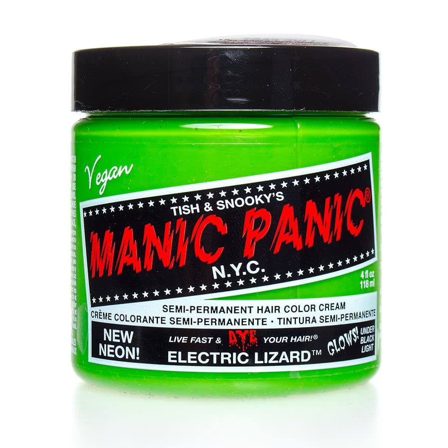 Manic Panic Classic Semi-Permanent UV Glow Hair Dye 118ml (Electric Lizard)