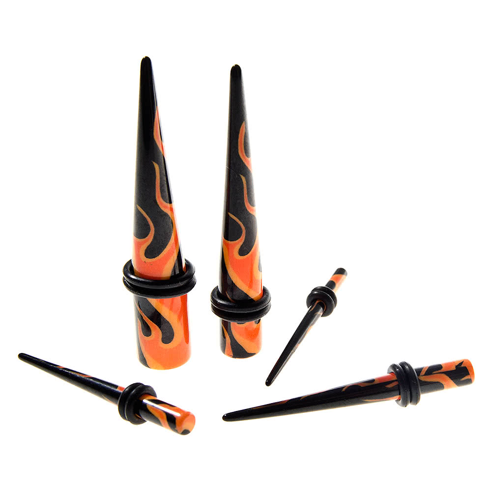 Blue Banana Flames Stretcher (Black/Orange)