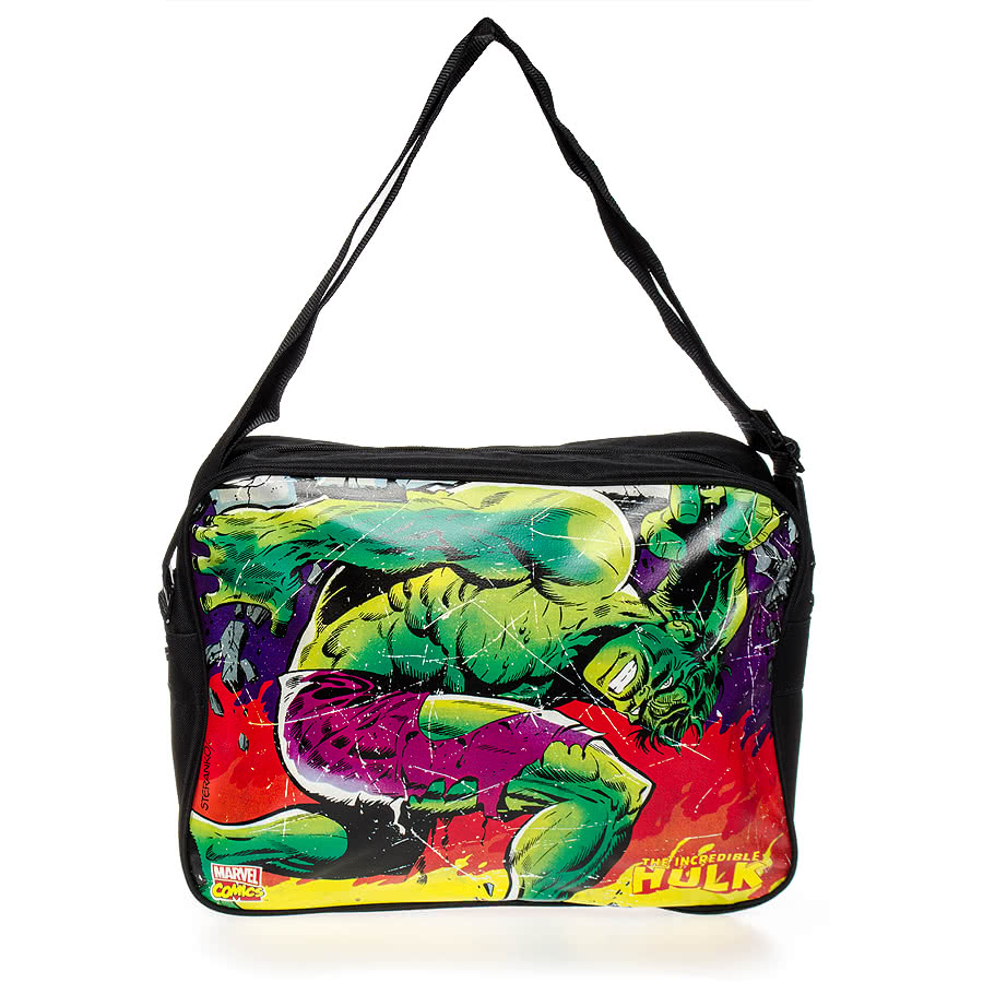 Marvel Comics The Incredible Hulk Messenger Bag | Blue ...