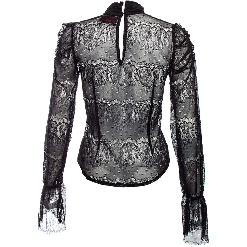 Jawbreaker Steampunk Lace Shirt (Black)