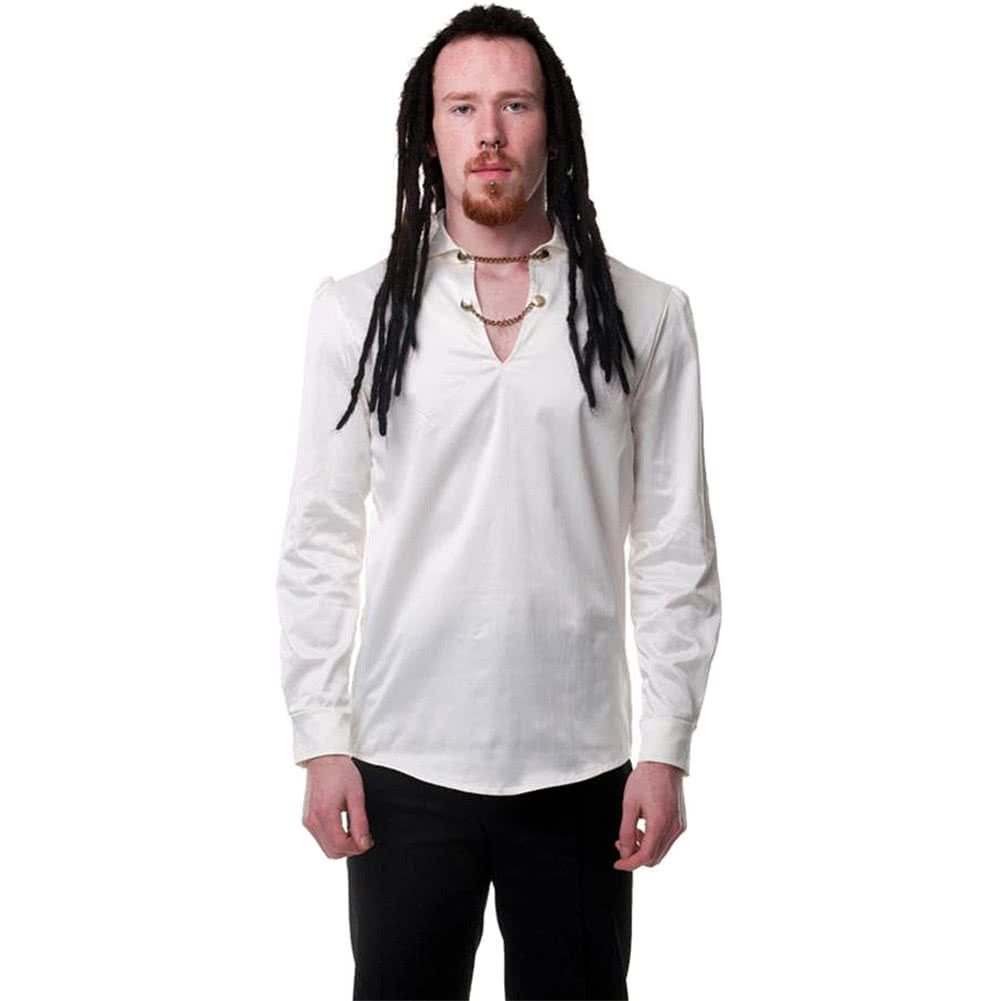 Steampunk Hansel Chain Shirt (Cream)