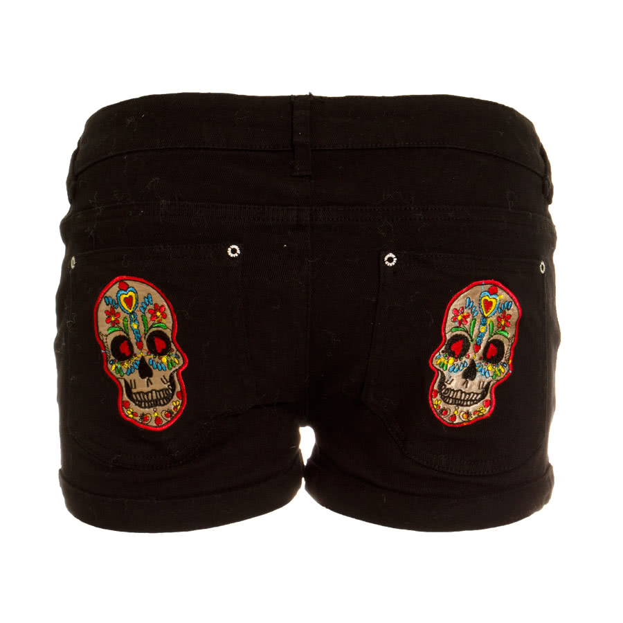 Banned Candy Skull Shorts (Black)