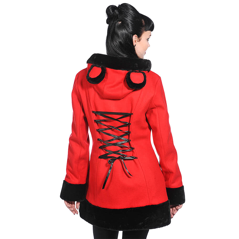 Banned Corset Coat (Red/Black)