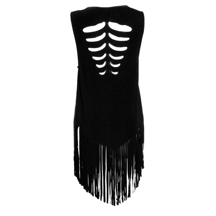 Banned Ribcage Shred Vest Top (Black)