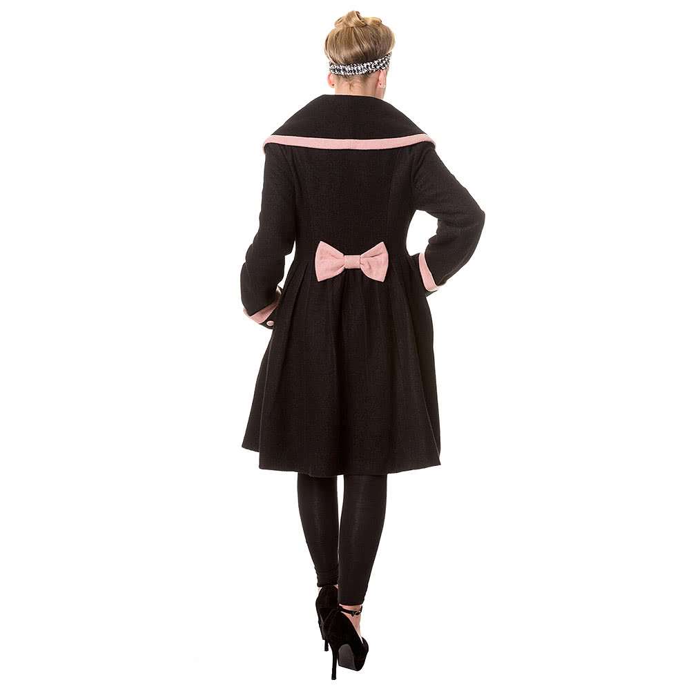 Banned Vintage Coat (Black/Pink)