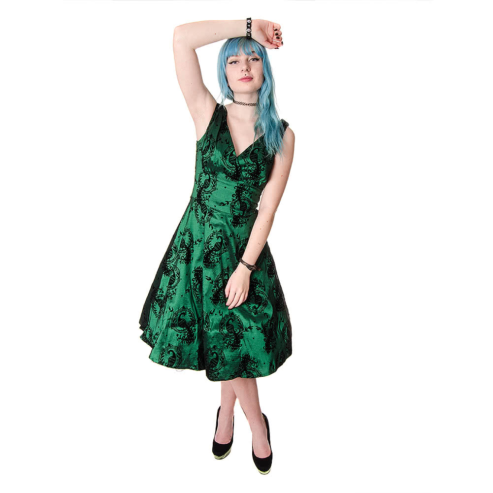 Voodoo Vixen Betty Boo Dress (Green)