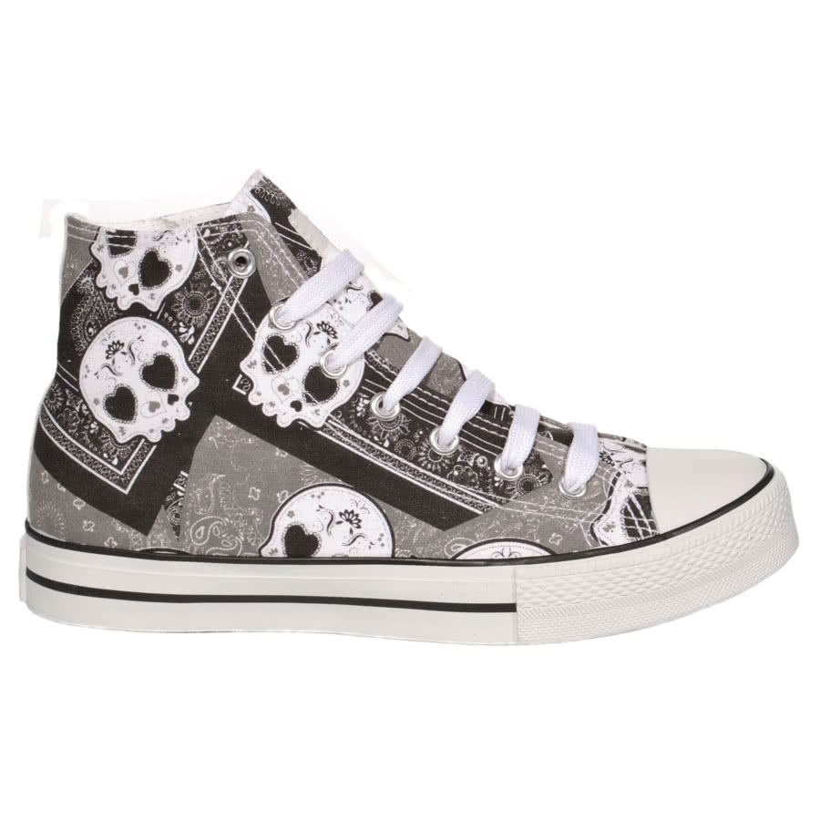 Bleeding Heart Boots - Sugar Skull Shoes / Trainers ...